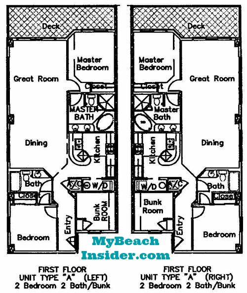 seychelles condominium floor plans panama city beach. Black Bedroom Furniture Sets. Home Design Ideas