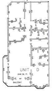Three Bedroom Three Bathroom Unit D Floor Plan