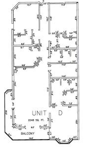 Three Bedroom Three Bathroom Unit D Floor Plan