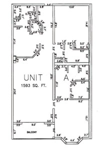 Two Bedroom Two Bathroom Unit A Floor Plan