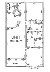Two Bedroom Two Bathroom Unit A Floor Plan