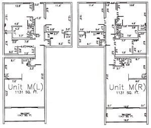 Two Bedroom Two Bathroom Unit M Floor Plan