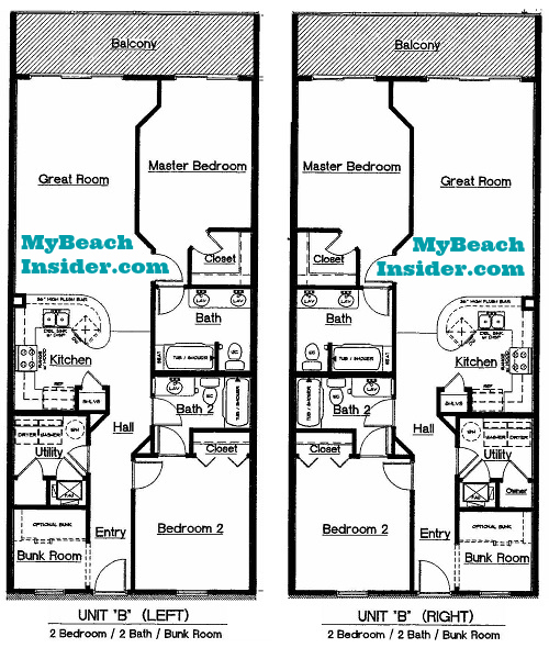 Celadon Beach Resort Condo Floor Plans Panama City Beach
