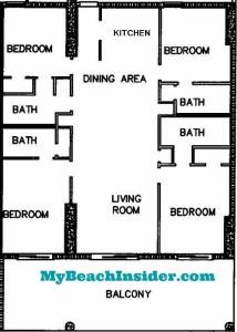 Four Bedroom Four Bathroom Floor Plan MBI