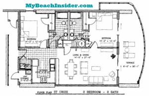 Two Bedroom Two Bathroom St Croix Floor Plan MBI
