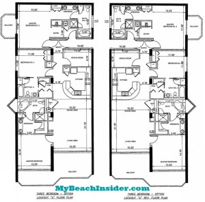 Unit A LockOut Three Bedroom Three Bathroom Floor Plans MBI