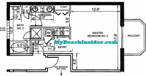 Unit E One Bedroom Efficiency Floor Plan MBI