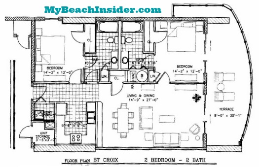 Two Bedroom Bathroom St Croix Floor Plan Mbi