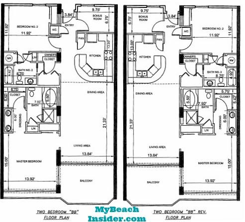 Unit Bb Two Bedroom Bathroom Floor Plans Mbi